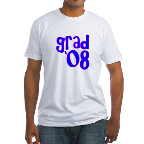 Grad 08 - Blue - Fitted T-Shirt