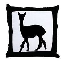 Strolling Alpaca Throw Pillow