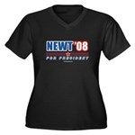 Newt 08 Women's Plus Size V-Neck Dark T-Shirt