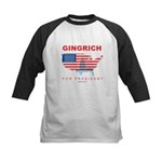 Gingrich for President Kids Baseball Jersey