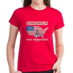Gingrich for President Women's Dark T-Shirt