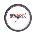 Newt for President Wall Clock