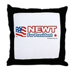 Newt for President Throw Pillow