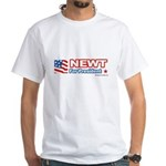 Newt for President White T-Shirt