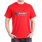 Newt for President Dark T-Shirt