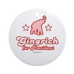Gingrich for President Ornament (Round)