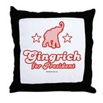 Gingrich for President Throw Pillow