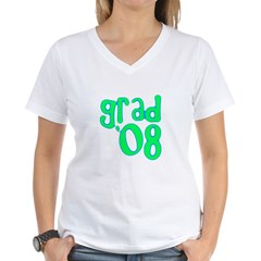 Grad 08 - Lime - Women's V-Neck T-Shirt