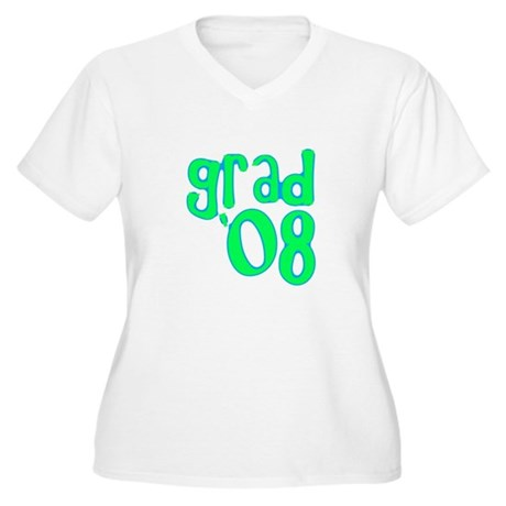Grad 08 - Lime - Women's Plus Size V-Neck T-Shirt