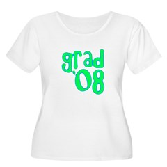 Grad 08 - Lime - Women's Plus Size Scoop Neck T-S