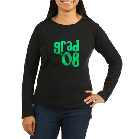 Grad 08 - Lime - Women's Long Sleeve Dark T-Shirt