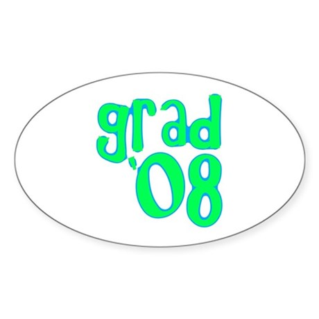 Grad 08 - Lime - Oval Sticker