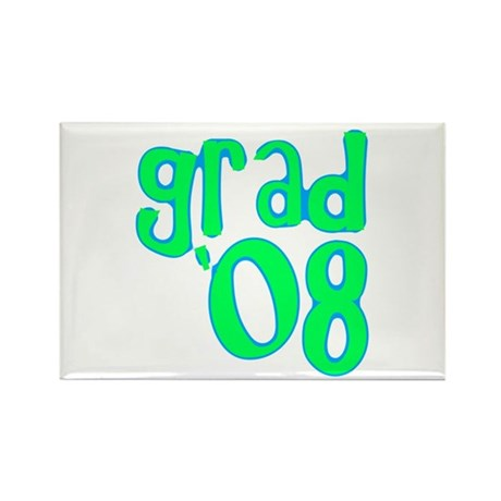 Grad 08 - Lime - Rectangle Magnet