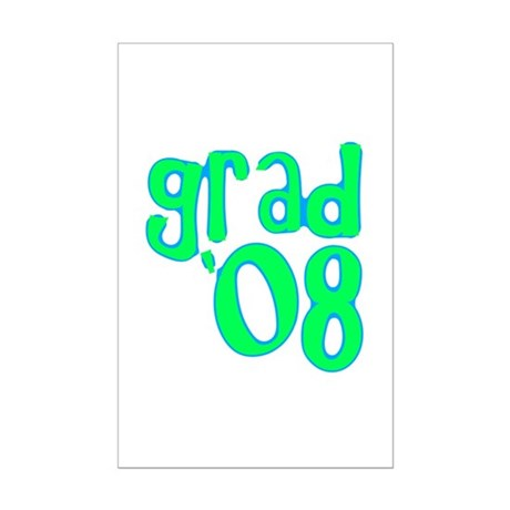 Grad 08 - Lime - Mini Poster Print