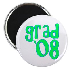 "Grad 08 - Lime - 2.25"" Magnet (10 pack)"
