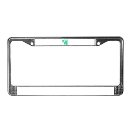 Grad 08 - Lime - License Plate Frame