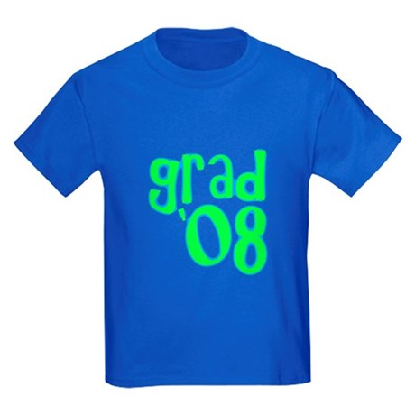 Grad 08 - Lime - Kids Dark T-Shirt