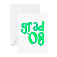 Grad 08 - Lime - Greeting Card