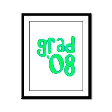 Grad 08 - Lime - Framed Panel Print