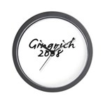 Gingrich Autograph Wall Clock