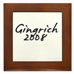Gingrich Autograph Framed Tile