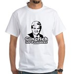 Gingrich for President White T-Shirt