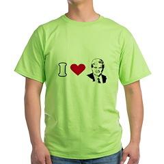 I Love Newt Green T-Shirt