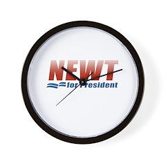 Newt for President Wall Clock