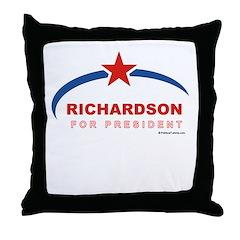 Richardson for President Throw Pillow