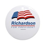 Richardson for President Ornament (Round)