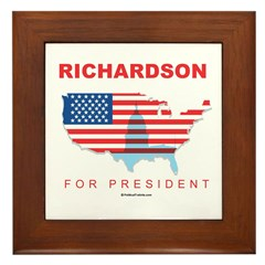 Richardson for President Framed Tile
