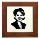 Condi Rice Face Framed Tile