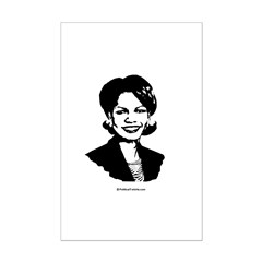 Condi Rice Face Mini Poster Print