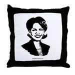 Condi Rice Face Throw Pillow
