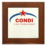 Condi for President Framed Tile