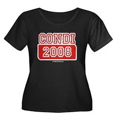 Condi 2008 Women's Plus Size Scoop Neck Dark T-Shi