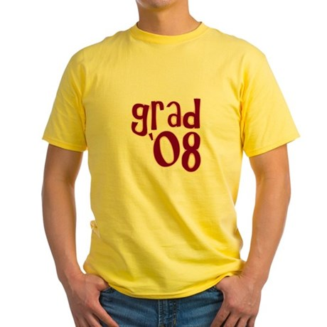Grad 08 - Brick Red - Yellow T-Shirt