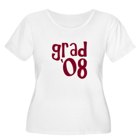 Grad 08 - Brick Red - Women's Plus Size Scoop Nec