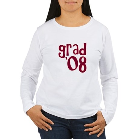 Grad 08 - Brick Red - Women's Long Sleeve T-Shirt