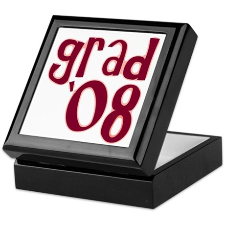 Grad 08 - Brick Red - Keepsake Box