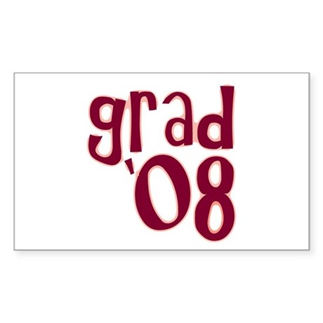 Grad 08 - Brick Red - Rectangle Sticker