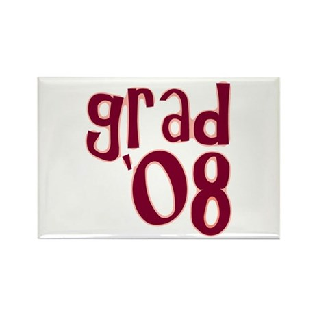 Grad 08 - Brick Red - Rectangle Magnet
