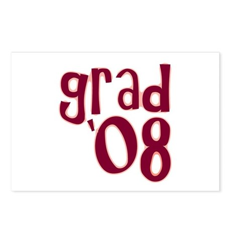 Grad 08 - Brick Red - Postcards (Package of 8)