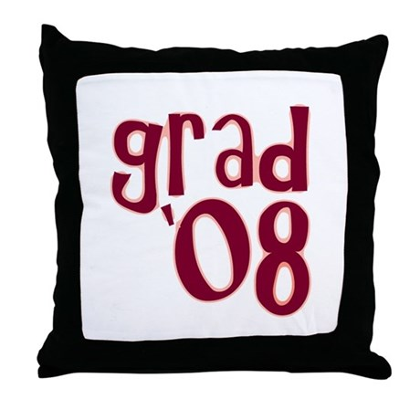 Grad 08 - Brick Red - Throw Pillow