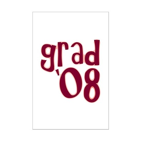 Grad 08 - Brick Red - Mini Poster Print
