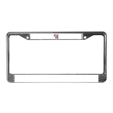 Grad 08 - Brick Red - License Plate Frame