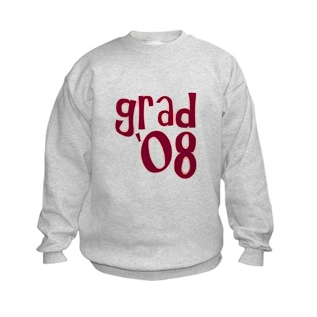 Grad 08 - Brick Red - Kids Sweatshirt