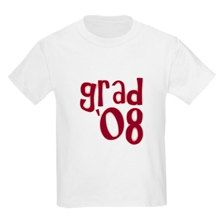 Grad 08 - Brick Red - Kids Light T-Shirt