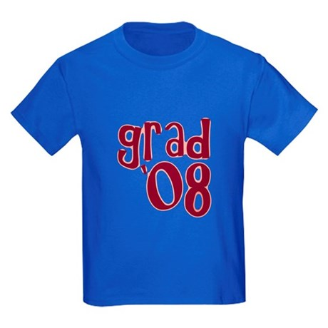 Grad 08 - Brick Red - Kids Dark T-Shirt