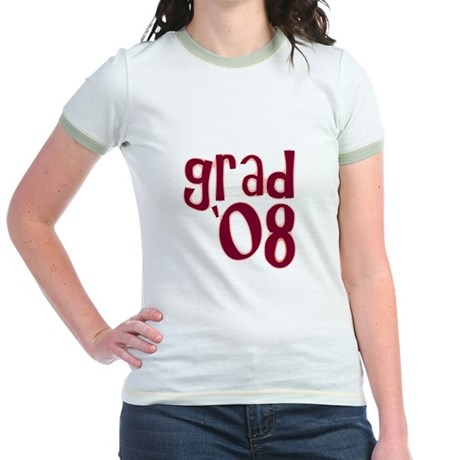 Grad 08 - Brick Red - Jr. Ringer T-Shirt